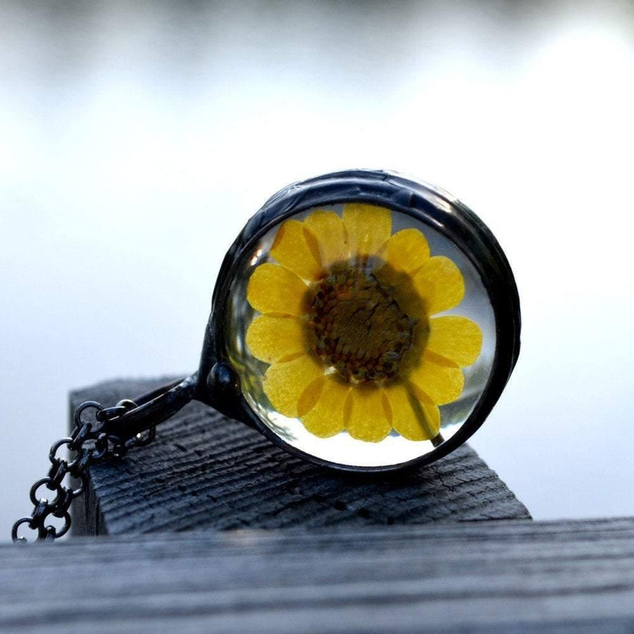 Women's Yellow Sunflower Necklace
