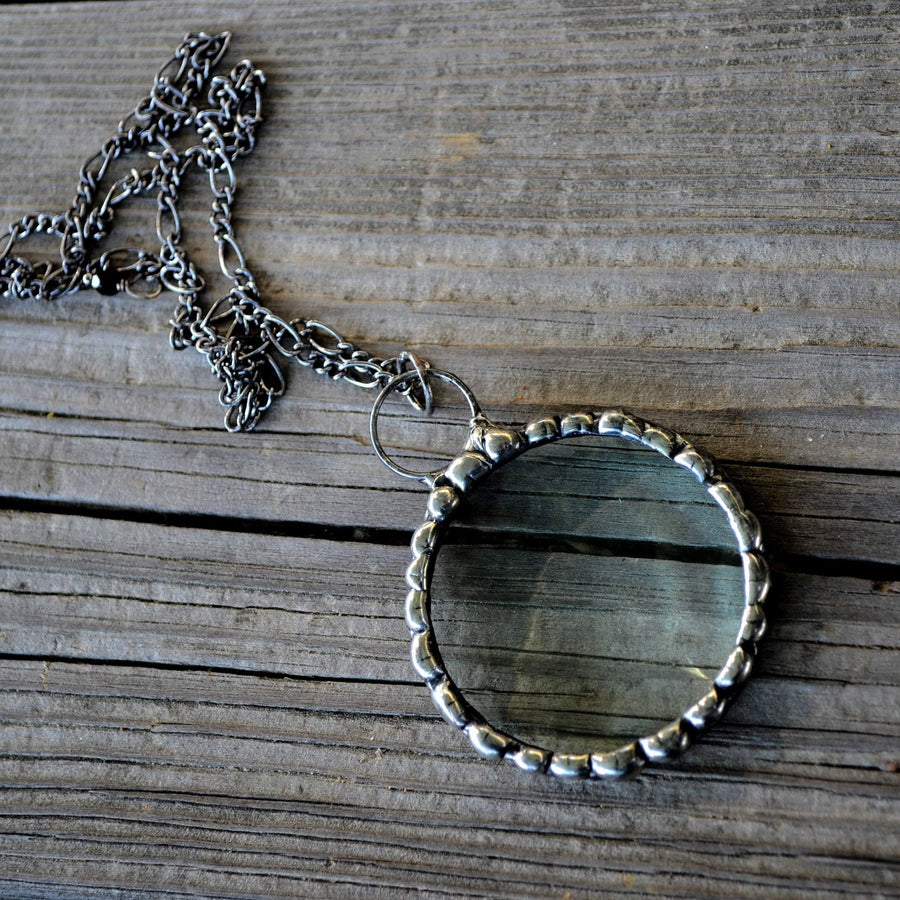 Long Magnifying Glass Pendant