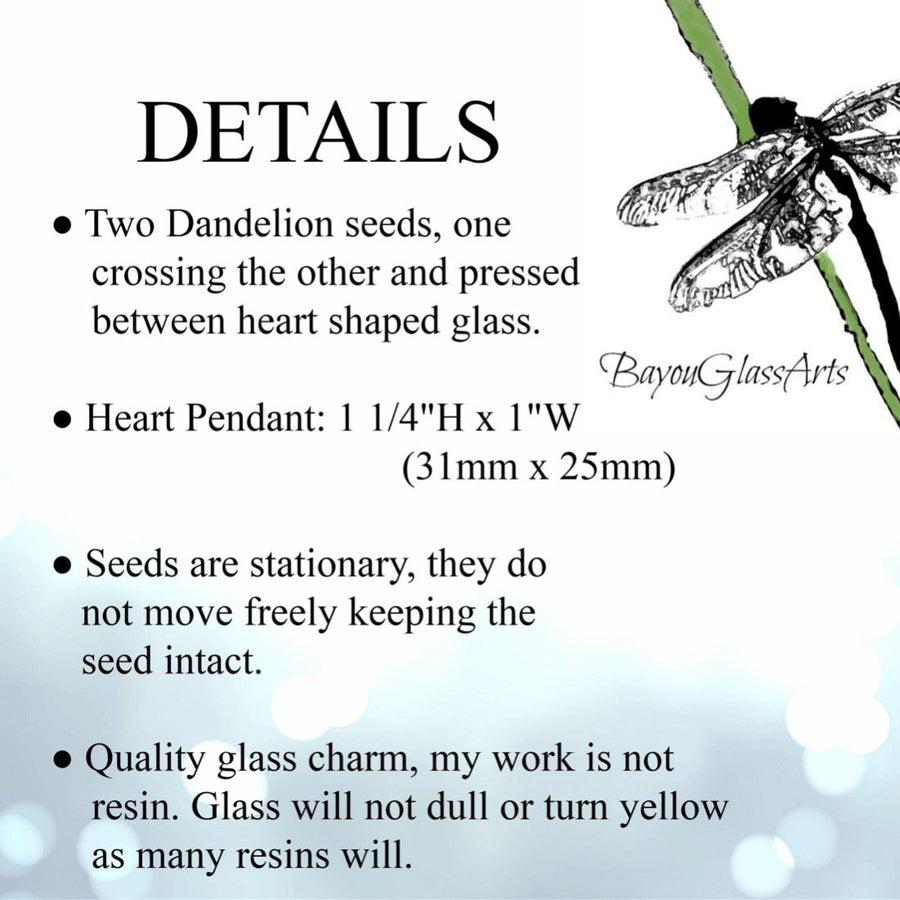 Details Graphic about Dandelion Seed Necklace