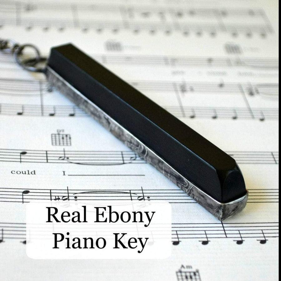 Real Ebony Piano Key Necklace