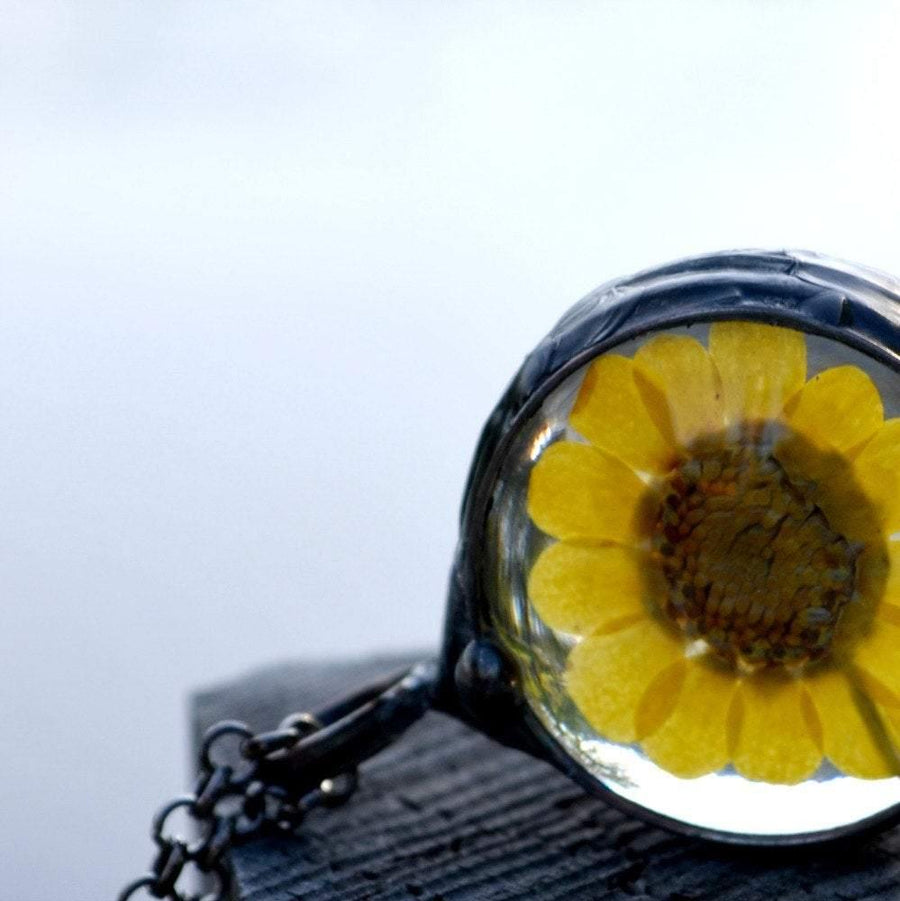 1 inch Sunflower Necklace