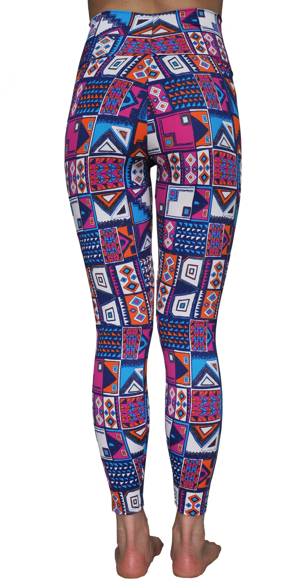 fdcf1e01f0396 Abstract Ankle Length Leggings