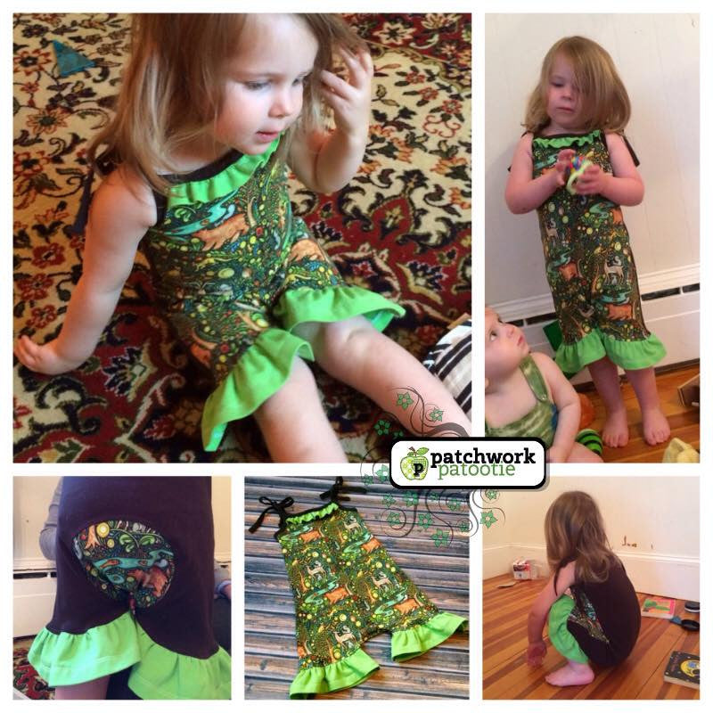 Eliana Romper Sewing Pattern (PDF)