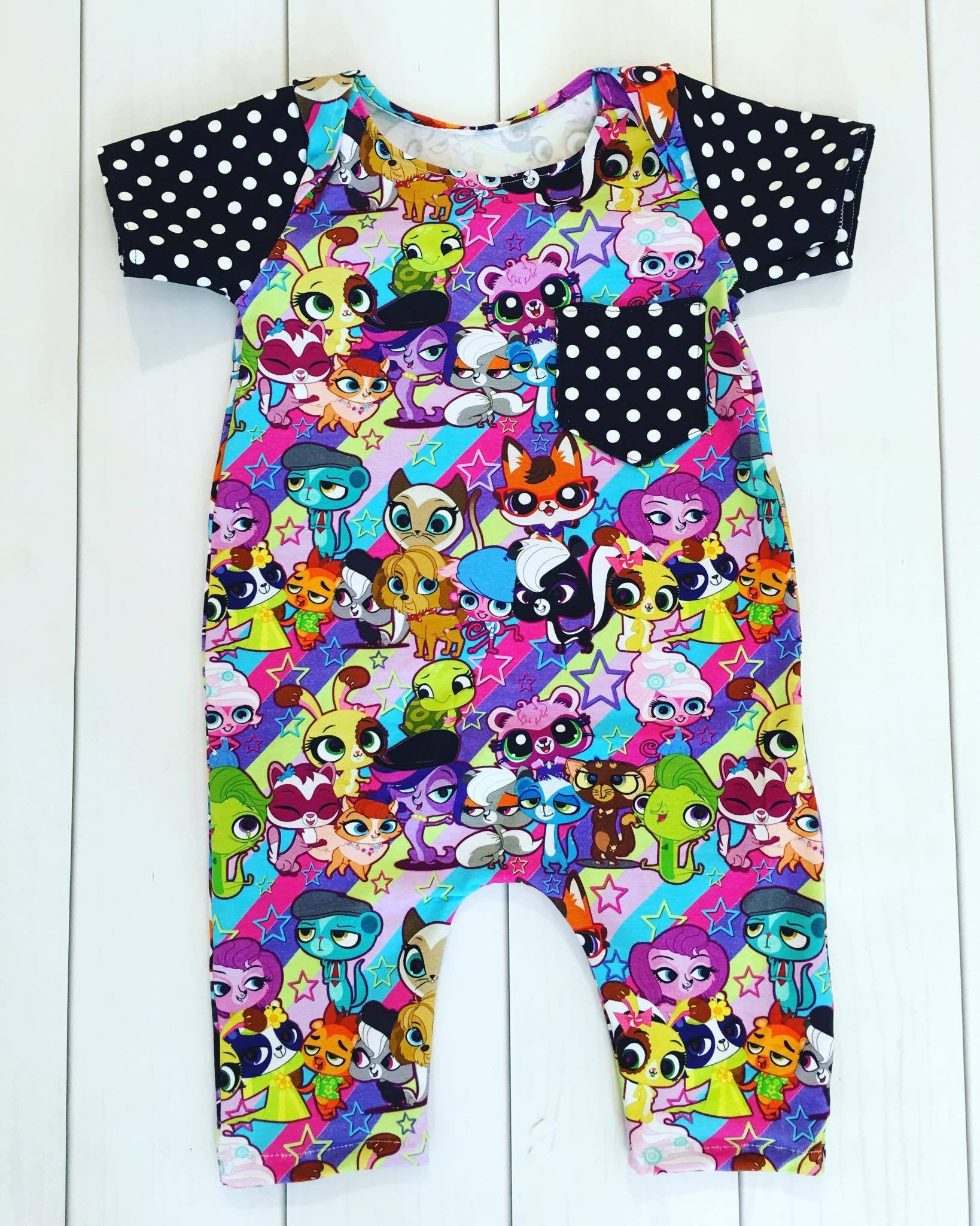 Pick-A-Pocket Romper PDF sewing pattern