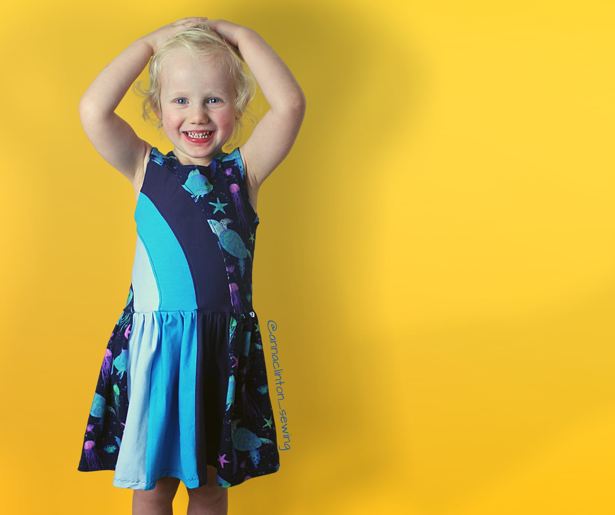 Rainbow Falls Dress -Kids- PDF Pattern -Projector/A0 Friendly-