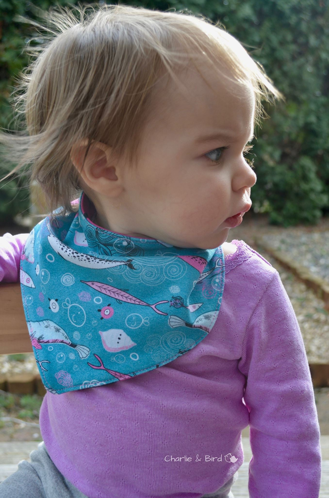 Dribble Lips Bandana Bib SEWING PDF Pattern