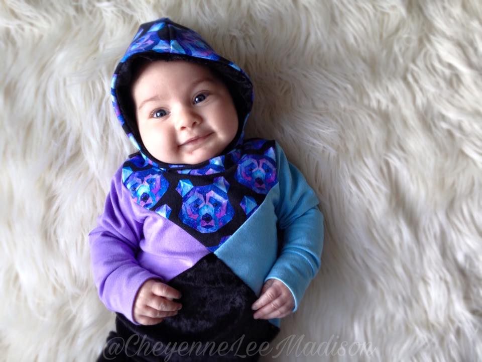 True North Hoodie -CHILDREN & DOLL SIZES - PDF SEWING PATTERN