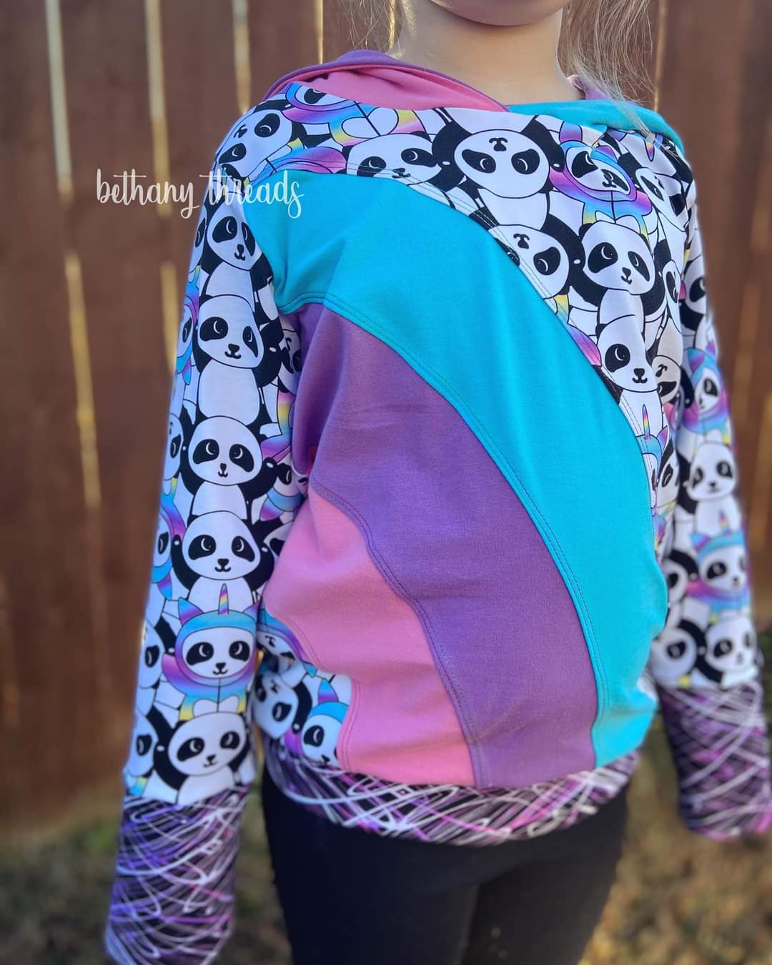 Rainbow Falls Hoodie -KIDS- PDF Pattern -Projector/A0 Friendly-