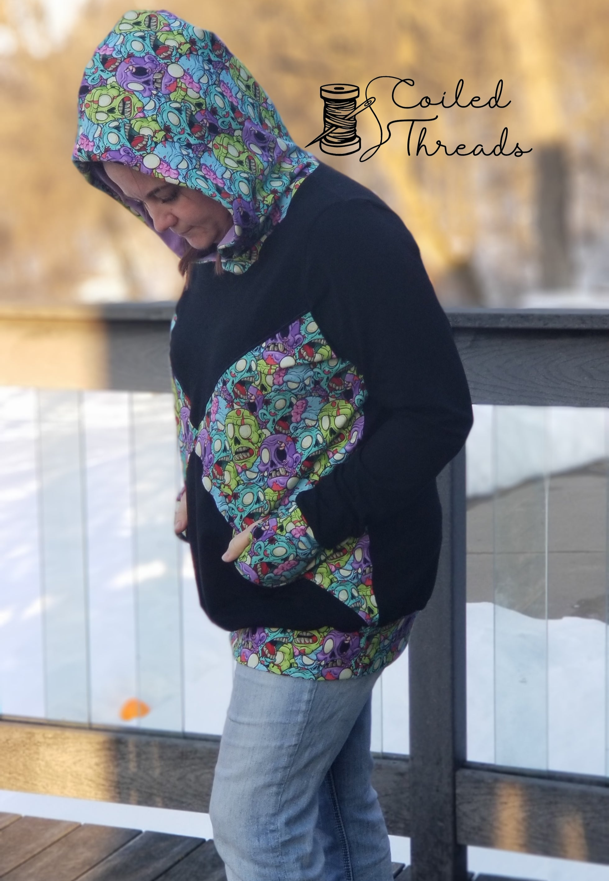 True North Hoodie for Adults - PDF Sewing Pattern - PROJECTOR/A0 File included