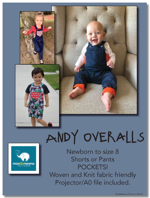 Andy Overalls -Sewing PDF Pattern- **Projector/A0 Friendly**