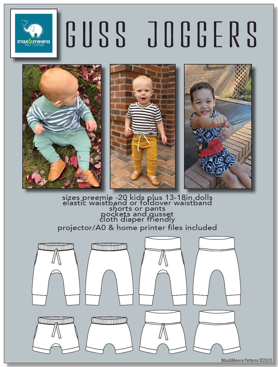 Guss Joggers SEWING PDF PATTERN **Projector/A0 File Included**