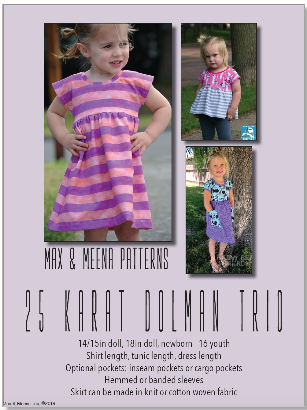 25 Karat Dolman Trio SEWING PDF PATTERN **Projector/A0 Friendly**