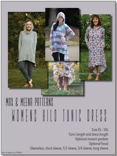 Women's Hilo Tunic Dress PDF Sewing pattern (A0 file included)