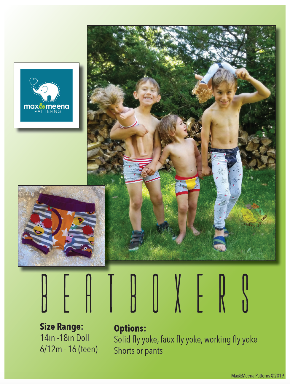Beatboxers (Boxer briefs and pants pattern) PDF