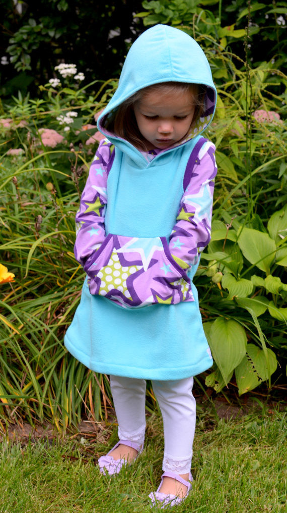 The Hideaway Hoodie Dress Sewing Pattern (PDF)