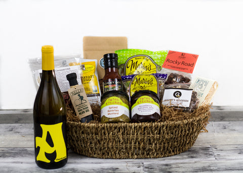 Taste of Santa Cruz Grand Gift Basket w/ Chardonnay