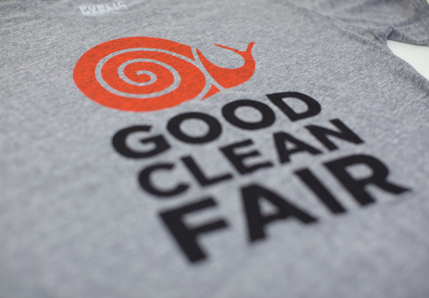 Slow Food T-Shirt in Grey - Public Market Goods