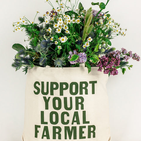 Exclusive & Reusable 100% Cotton Canvas Farmer's Market Tote Bag in Natural Amazon Etsy