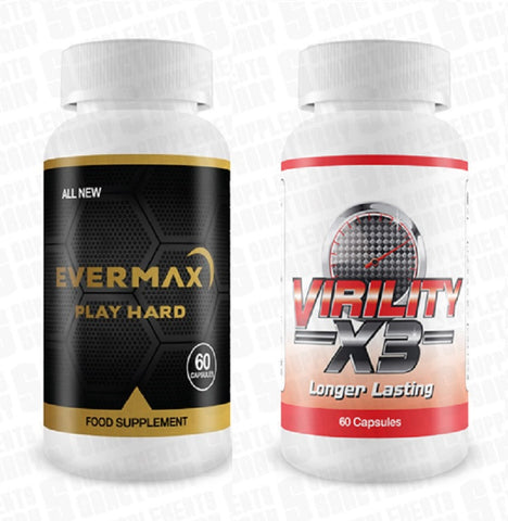 Evermax play hard & Virility Longer lasting, Performance/sexual enhancer