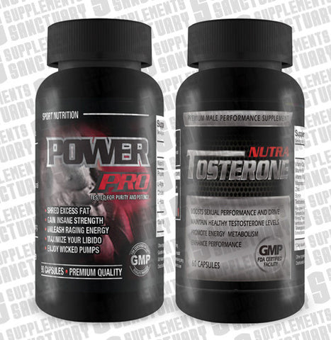 Nutra Tosterone 60 capsules & Power Pro 90 capsules