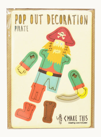 Pop Out Card - Pirate