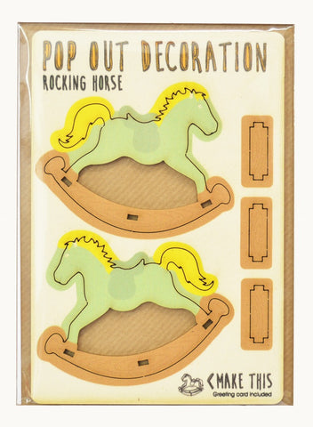 Pop Out Card- Rocking Horse