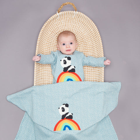 Rainbow Panda Playsuit