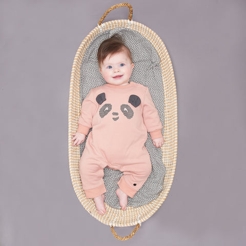 NIMBO - Baby Girl Panda Romper - Powder