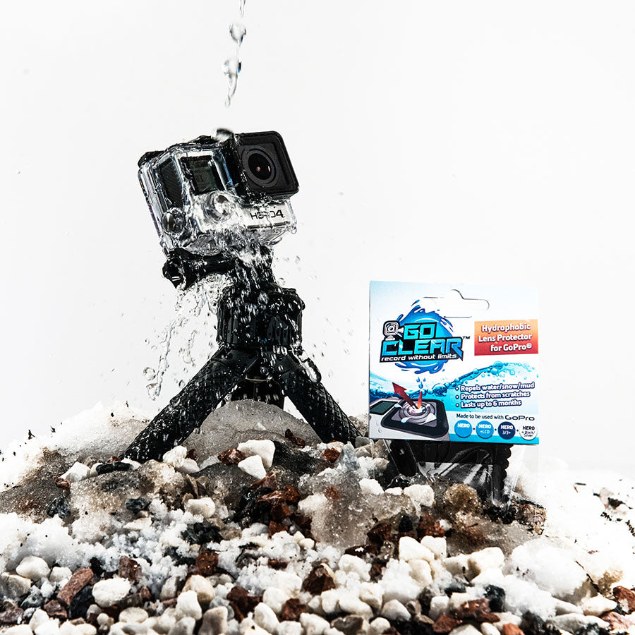 GoClear Hydrophobic protectors (now XCLEAR) are the leaders in Lens protectors for GoPro to repel and protect from water drops on the lens