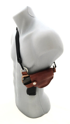 Glock 43 Cross Body Leather Shoulder Holster