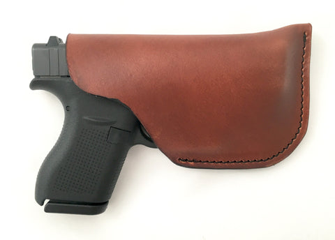 Glock 42 Leather Pocket Holster Brown