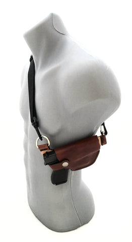 Glock 42 Cross Body leather shoulder holster