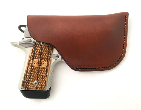 Kimber Micro Leather Pocket Holster Brown