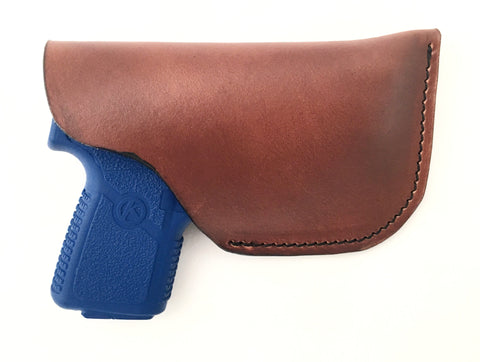 Kahr P380 Leather Pocket Holster Brown