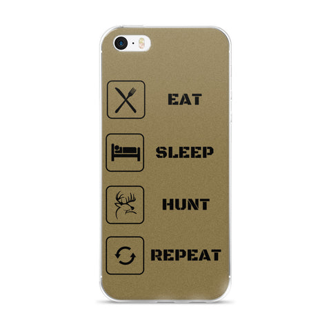 Eat Sleep Hunt Repeat iphone case 6 6s FDE