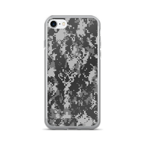 Digital Camo Gray iPhone 7/7 Plus Case