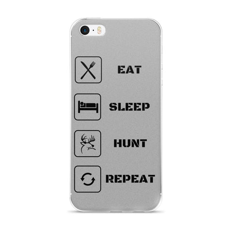 Eat Sleep Hunt Repeat iphone case 6 6s gray