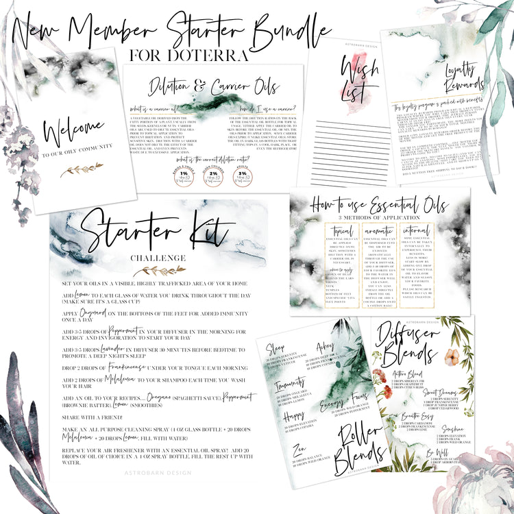 DoTerra New Member Welcome Bundle Printable