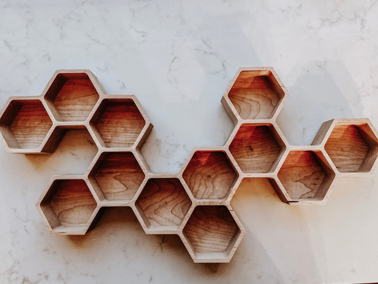 Honeycomb Oil Bottle Shelf