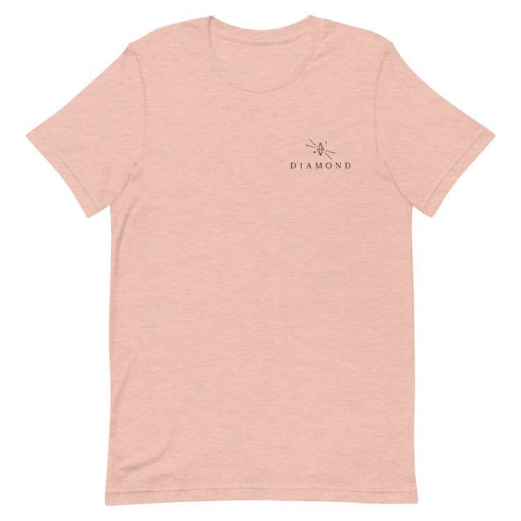 Diamond Embroidered Short-Sleeve Unisex T-Shirt