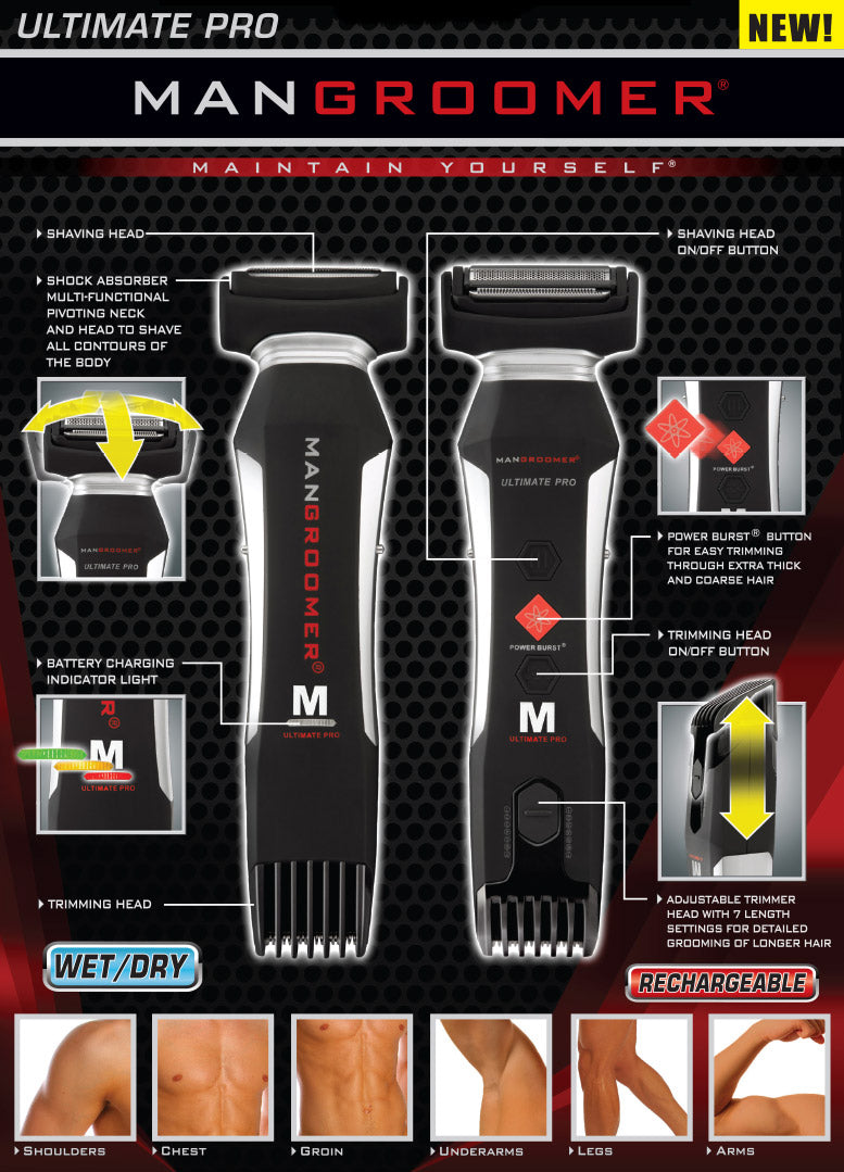 MANGROOMER ULTIMATE PRO Body Groomer and Trimmer Specifications