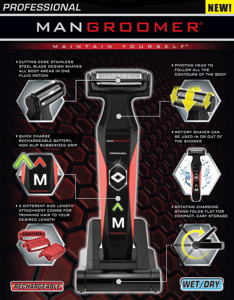 MANGROOMER PROFESSIONAL Body Groomer and Trimmer Specifications