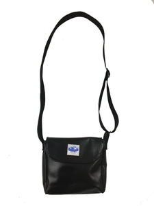 Black Vegan Leather Side Bag - Do Good