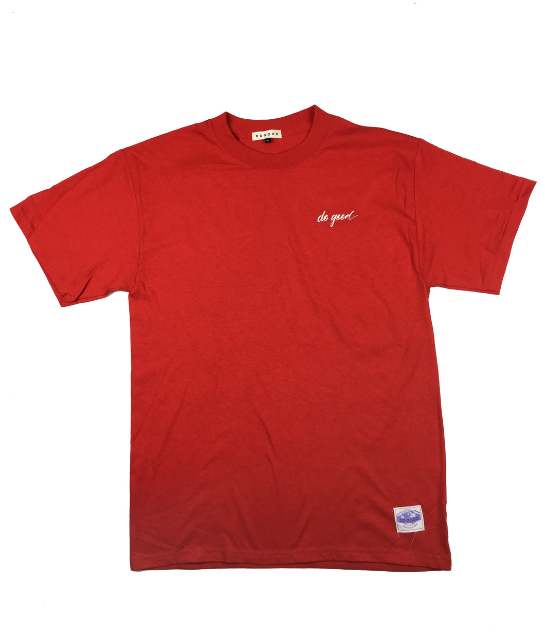 Script Logo T-Shirt - Red - Do Good