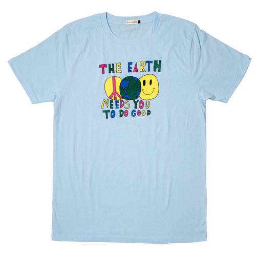 Earth Needs You T-Shirt - Light Blue - Do Good