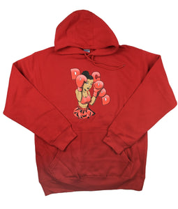 "Boxing Girl ""Do Good"" Hoodie Sweatshirt - Red - Do Good"