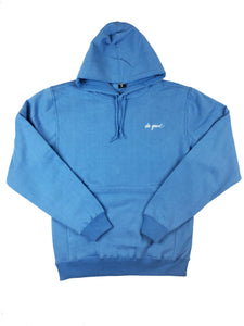 Script Logo Hoodie Sweatshirt - Blue - Do Good