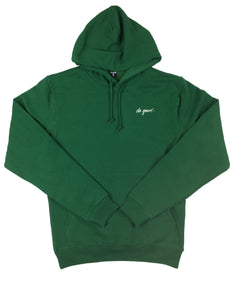 Script Logo Hoodie Sweatshirt - Forest Green - Do Good