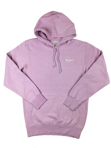 Script Logo Hoodie Sweatshirt - Lavender - Do Good