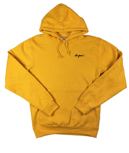 Script Logo Hoodie Sweatshirt - Yellow - Do Good